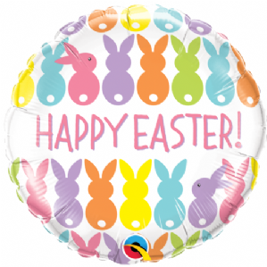 Easter Bunnies Line-Up Foil Balloon | Free Delivery available